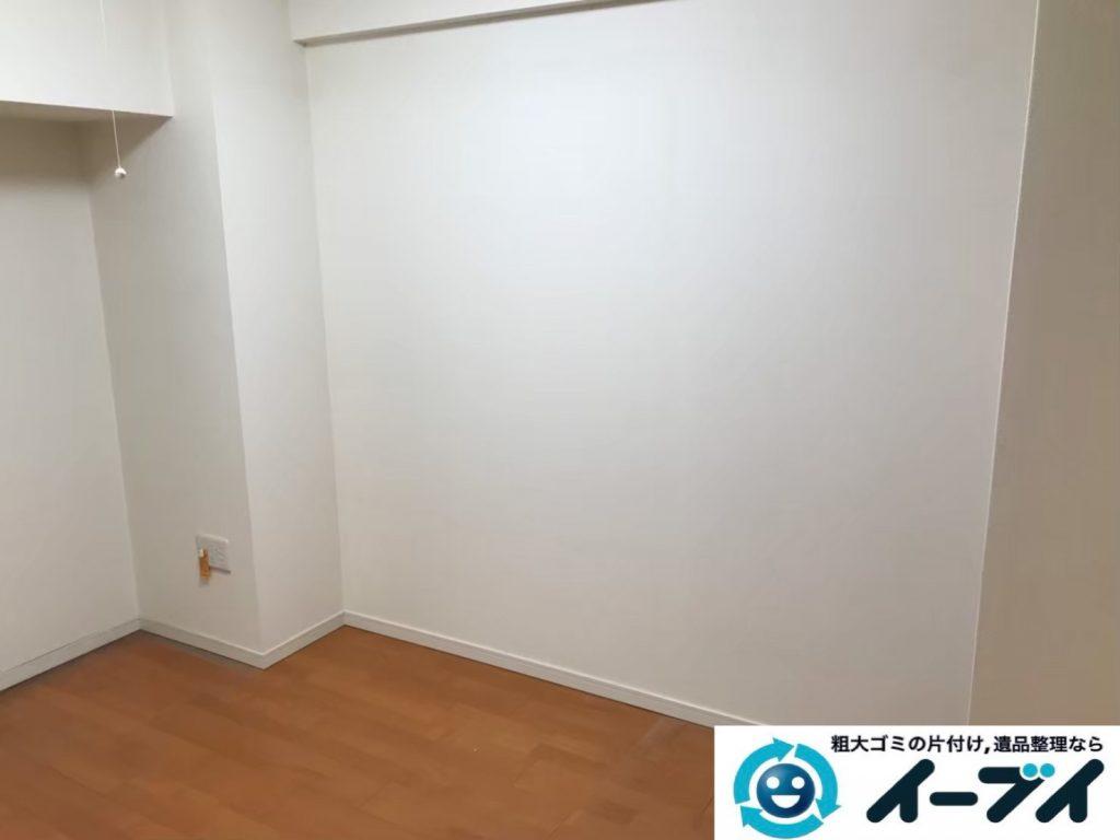 2019年9月18日大阪府大阪市西成区で和箪笥の大型家具の不用品回収。写真2