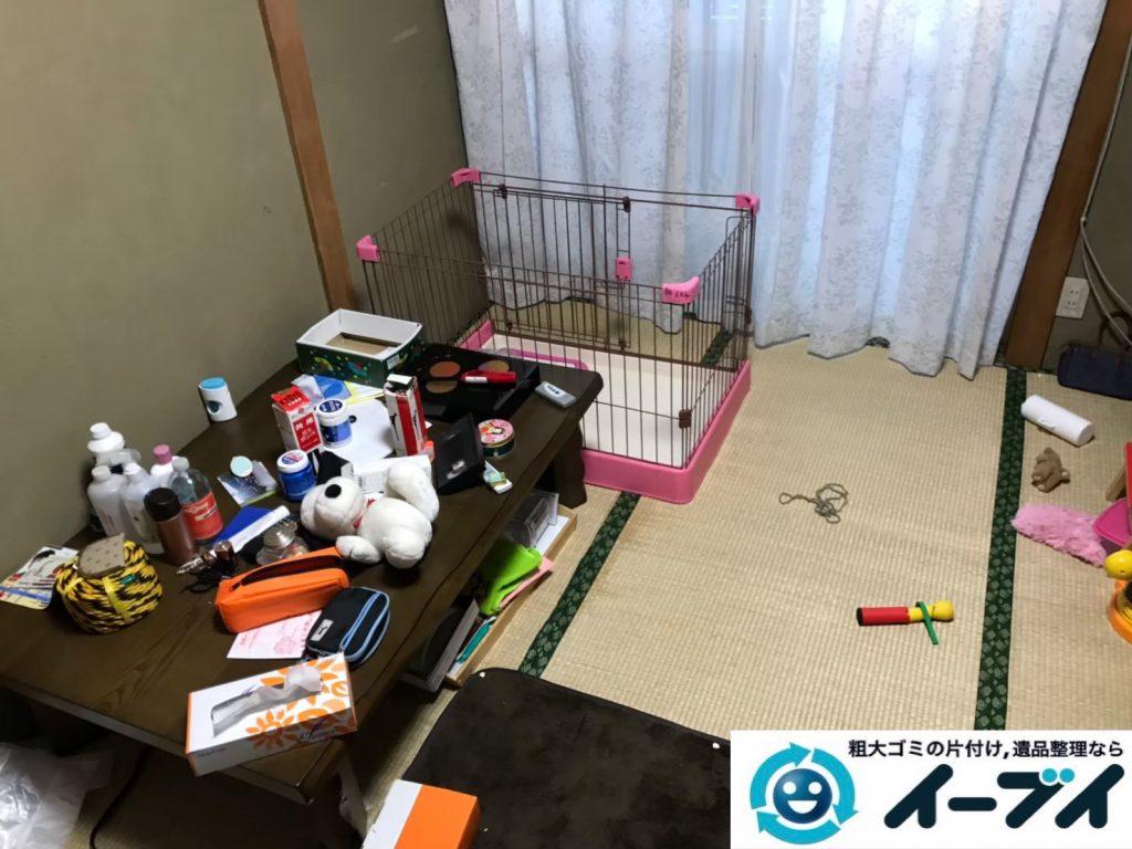 2019年9月5日大阪府大阪市此花区でテーブルや整理箪笥の大型家具処分。写真3