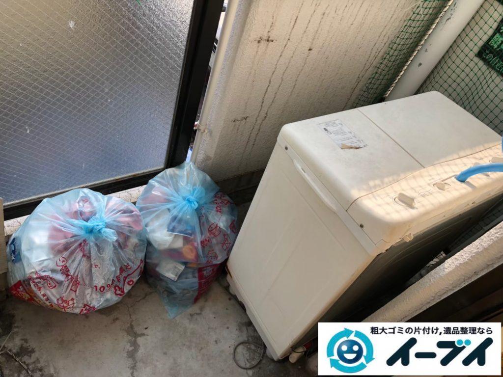 2019年9月19日大阪府大阪市都島区でベランダの不用品回収をさせていただきました。写真2