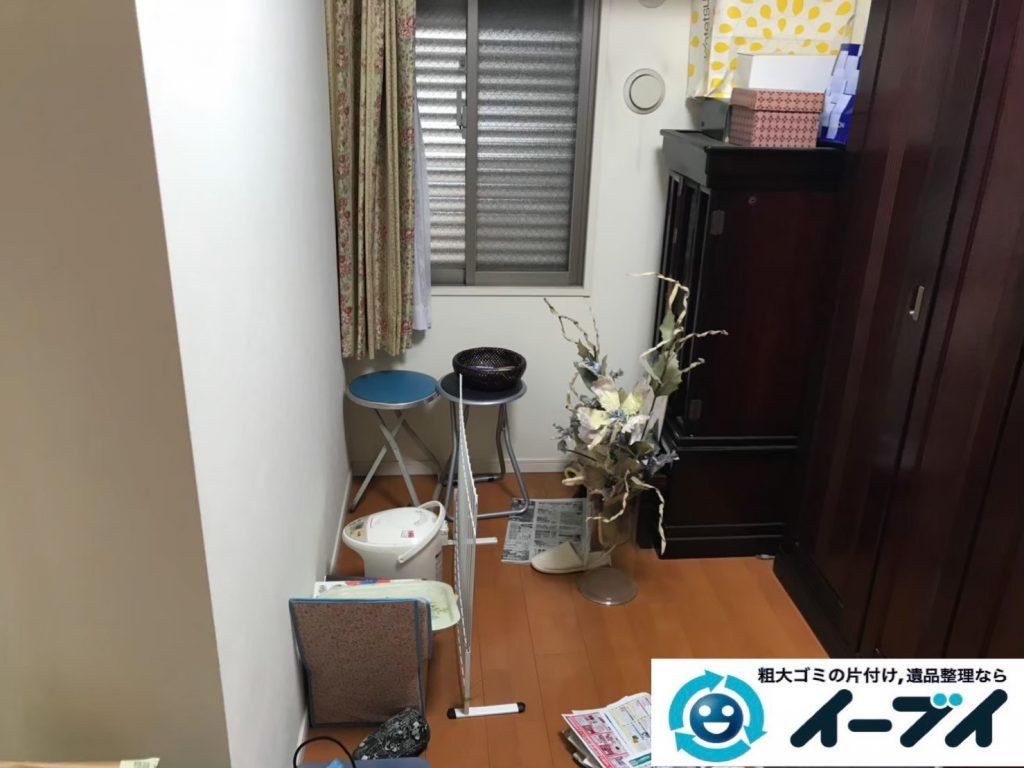 2019年9月18日大阪府大阪市西成区で和箪笥の大型家具の不用品回収。写真3
