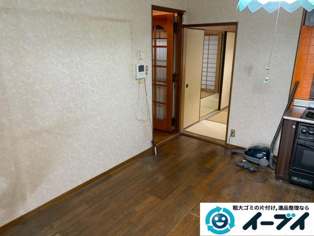 2019年10月24日大阪府島本町で退去に伴い、お家の家財道具の不用品回収。写真6