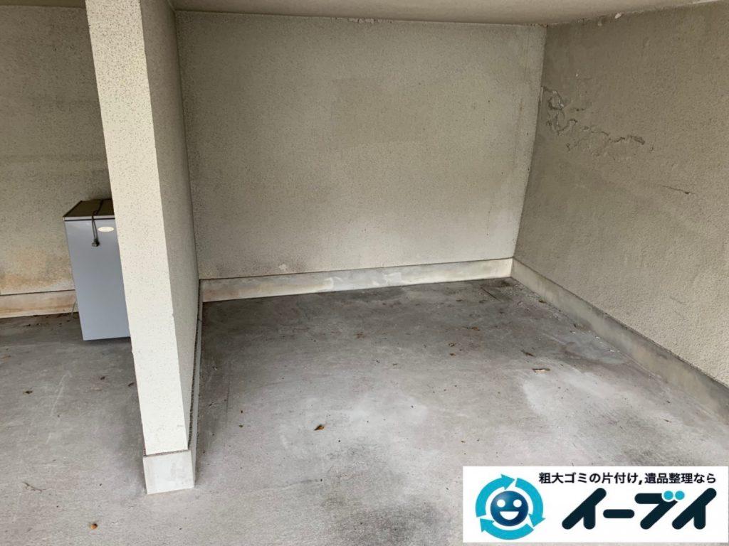 2019年10月22日大阪府岬町でガレージの不用品回収作業。写真4