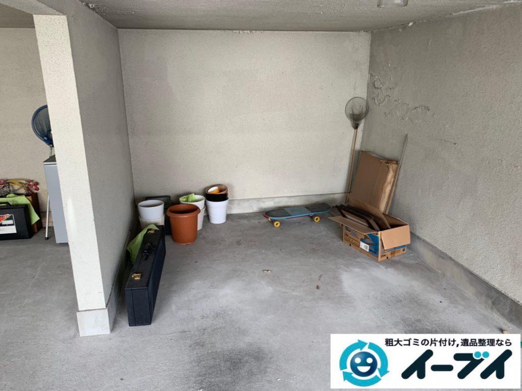 2019年10月22日大阪府岬町でガレージの不用品回収作業。写真3