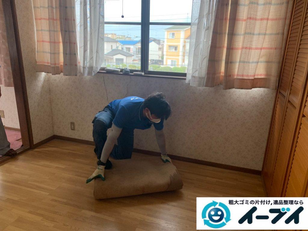 2019年10月24日大阪府島本町で退去に伴い、お家の家財道具の不用品回収。写真3