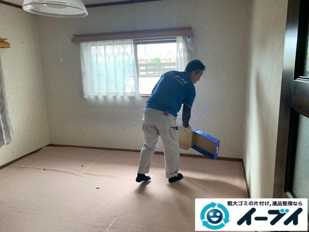 2019年10月24日大阪府島本町で退去に伴い、お家の家財道具の不用品回収。写真2