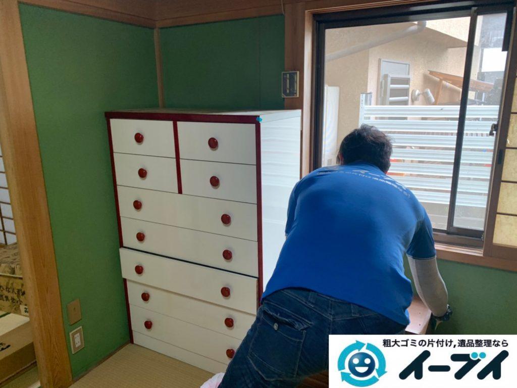 2019年10月25日大阪府大阪市岸和田市で退去に伴い、お家の家財道具を片付け処分させていただきました。写真1