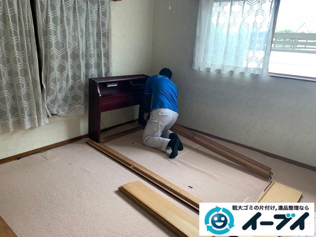 2019年10月24日大阪府島本町で退去に伴い、お家の家財道具の不用品回収。写真