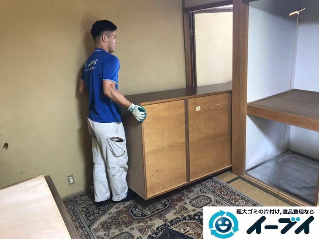 大阪府枚方市で婚礼家具の箪笥の大型家具処分。3