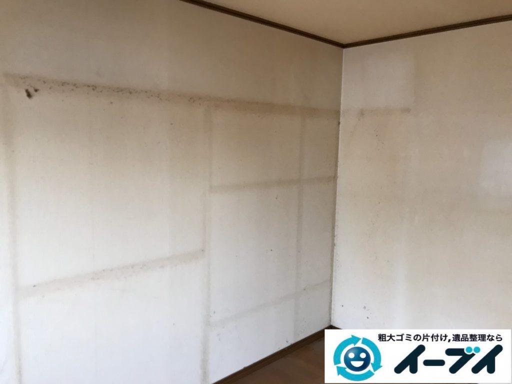 2019年11月4日大阪府東大阪市でタンスの大型家具、エアコンの家電処分の不用品回収。写真3