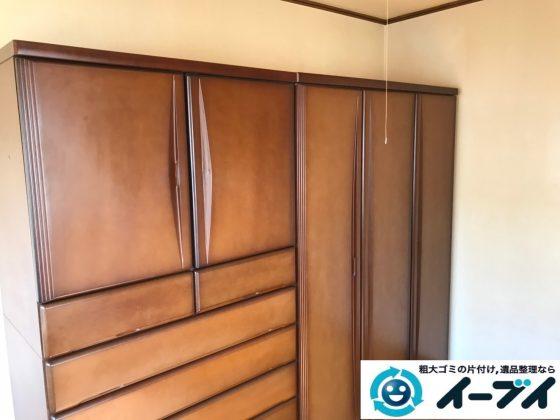 2019年11月4日大阪府東大阪市でタンスの大型家具、エアコンの家電処分の不用品回収。写真2