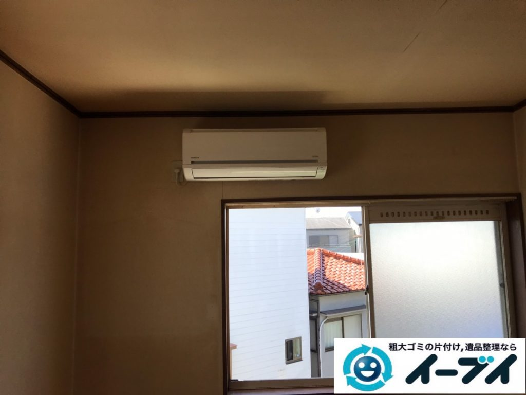 2019年11月4日大阪府東大阪市でタンスの大型家具、エアコンの家電処分の不用品回収。写真1