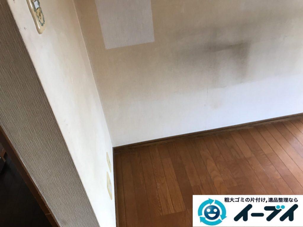 2019年11月1日大阪府東大阪市でエアコンや石油ファンヒーターの不用品回収。写真4