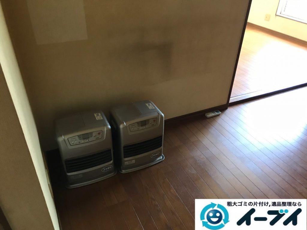 2019年11月1日大阪府東大阪市でエアコンや石油ファンヒーターの不用品回収。写真3