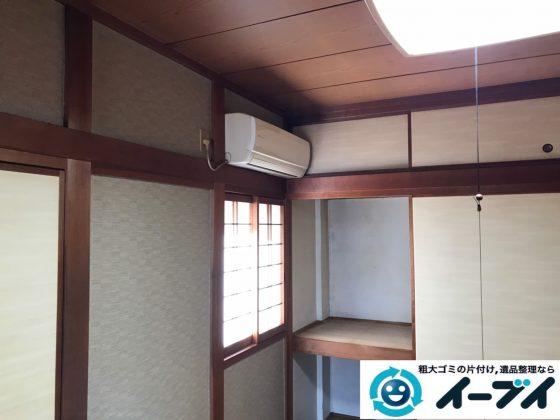 2019年11月1日大阪府東大阪市でエアコンや石油ファンヒーターの不用品回収。写真1