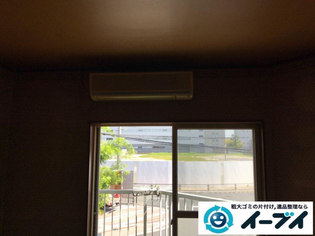 2019年10月30日大阪府摂津市で食器棚の大型家具、冷蔵庫の大型家電処分。写真3