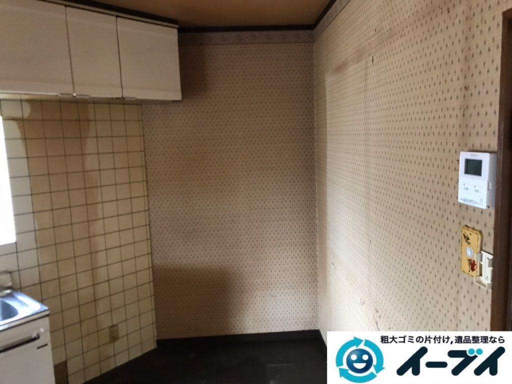 2019年10月30日大阪府摂津市で食器棚の大型家具、冷蔵庫の大型家電処分。写真2