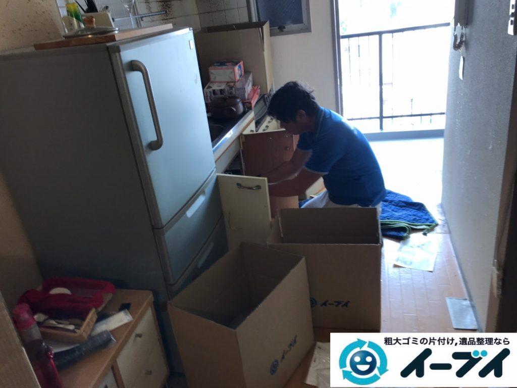 2019年11月15日大阪府枚方市で冷蔵庫の大型家電、ハンガーラックやスチールラックの不用品回収。写真3