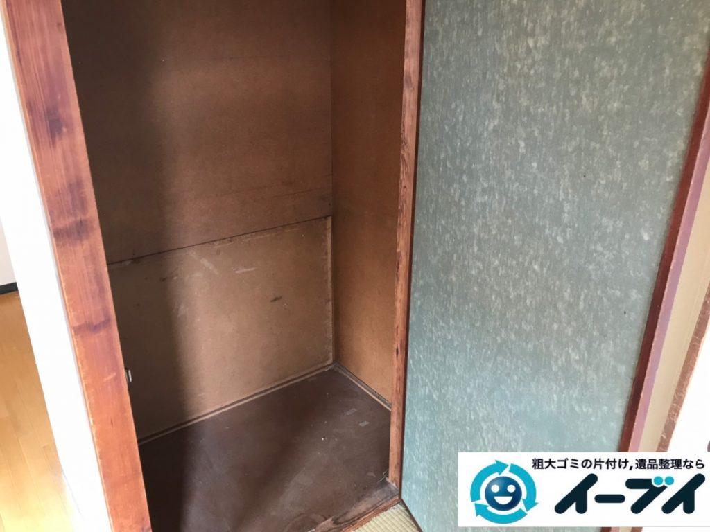 2019年11月15日大阪府枚方市で冷蔵庫の大型家電、ハンガーラックやスチールラックの不用品回収。写真2