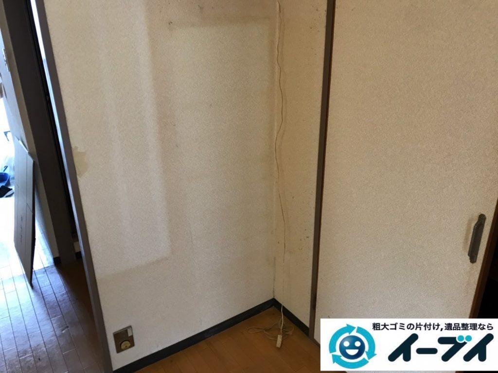 2019年11月11日大阪府池田市で押し入れや収納棚などの片付け作業。写真4