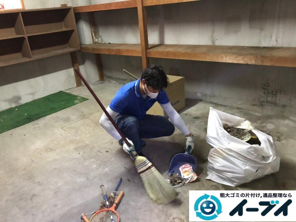 2019年11月19日大阪府吹田市で地下倉庫に溜まった不用品回収。写真5