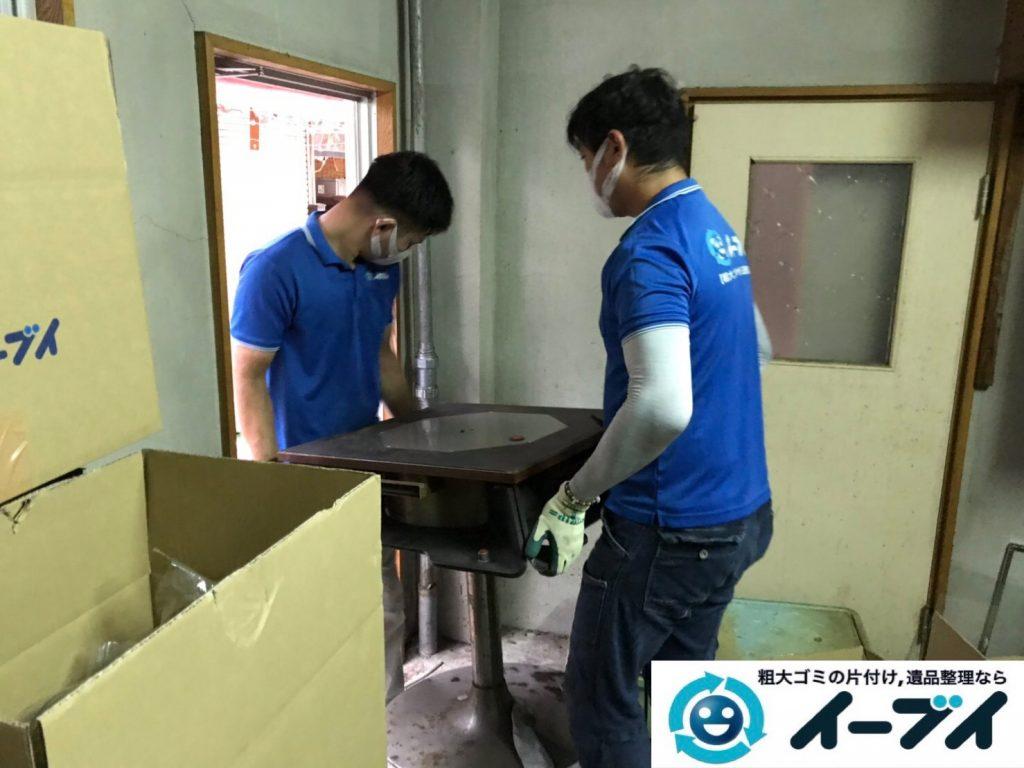 2019年11月19日大阪府吹田市で地下倉庫に溜まった不用品回収。写真4
