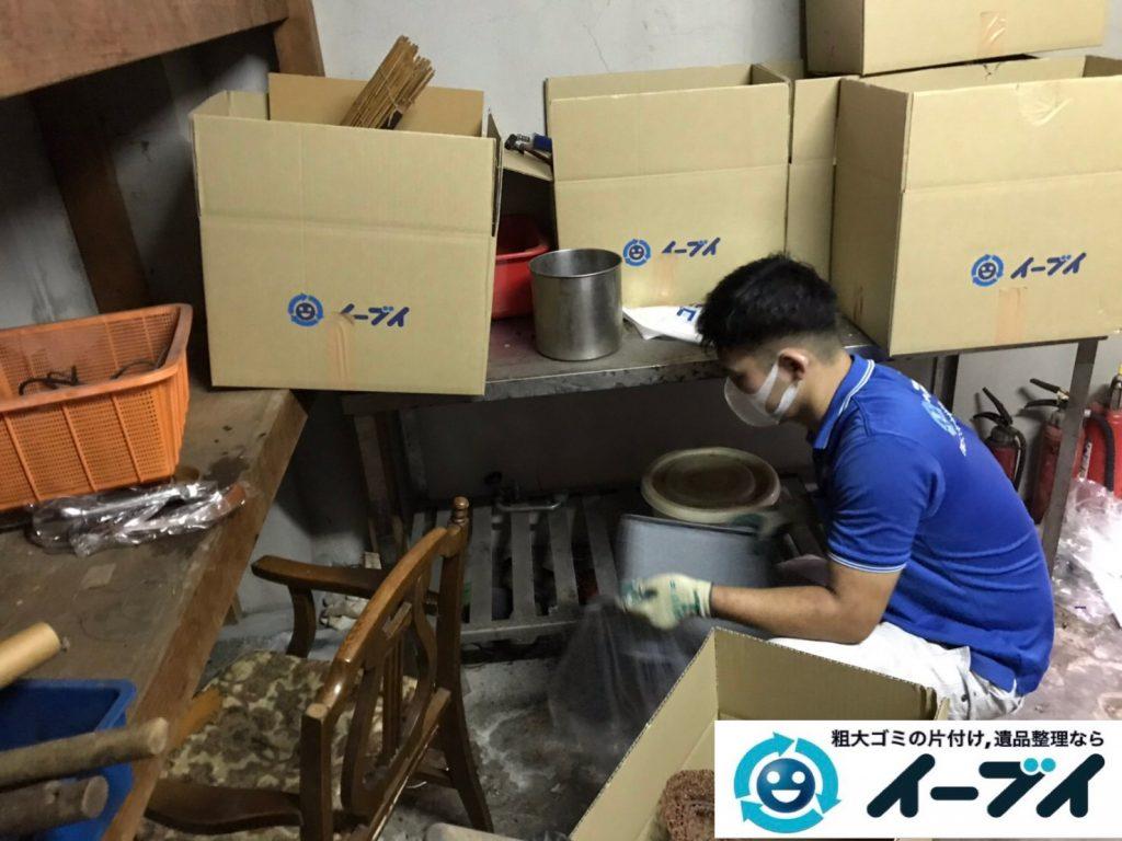 2019年11月19日大阪府吹田市で地下倉庫に溜まった不用品回収。写真3