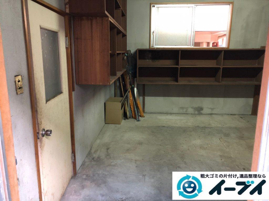 2019年11月13日大阪府茨木市で物置部屋の不用品回収作業。写真2