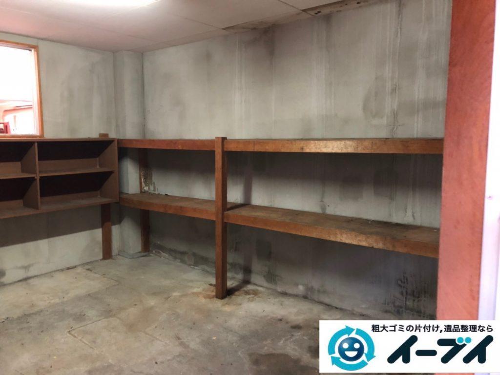 2019年11月19日大阪府吹田市で地下倉庫に溜まった不用品回収。写真2