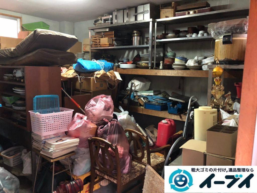 2019年11月19日大阪府吹田市で地下倉庫に溜まった不用品回収。写真1