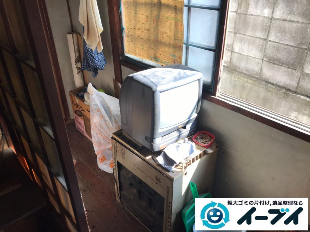 2019年11月21日大阪府大阪市住吉区で婚礼家具の大型家具、テレビの家電処分などをさせていただきました。写真1