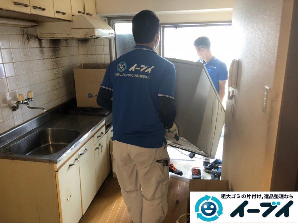 2019年12月2日大阪府河南町で冷蔵庫の大型家電、ベッドの解体作業をさせていただきました。写真4