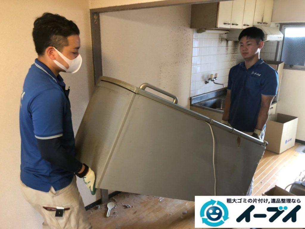 2019年12月2日大阪府河南町で冷蔵庫の大型家電、ベッドの解体作業をさせていただきました。写真3