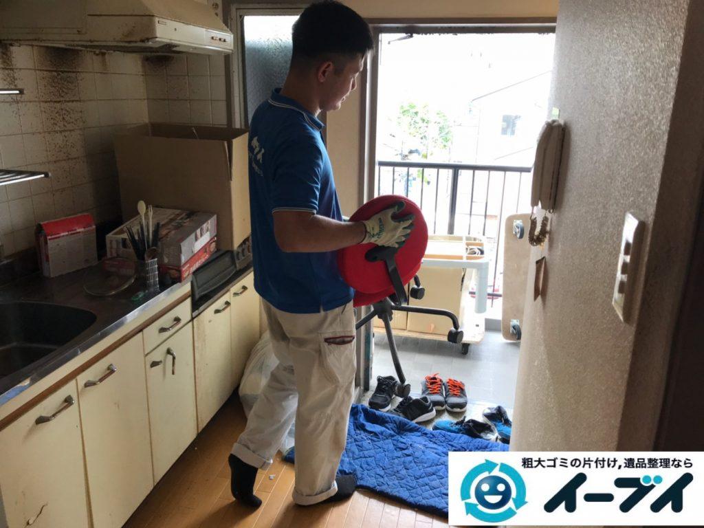2019年12月2日大阪府河南町で冷蔵庫の大型家電、ベッドの解体作業をさせていただきました。写真2