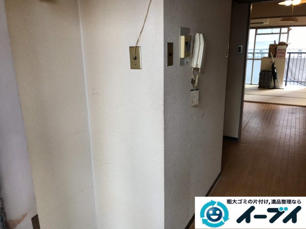 2019年12月3日大阪府河内長野市で引越しに伴い、冷蔵庫の大型家電、ソファの大型家具の不用品回収。写真4