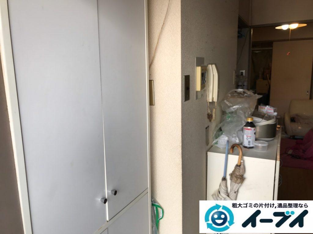 2019年12月3日大阪府河内長野市で引越しに伴い、冷蔵庫の大型家電、ソファの大型家具の不用品回収。写真3