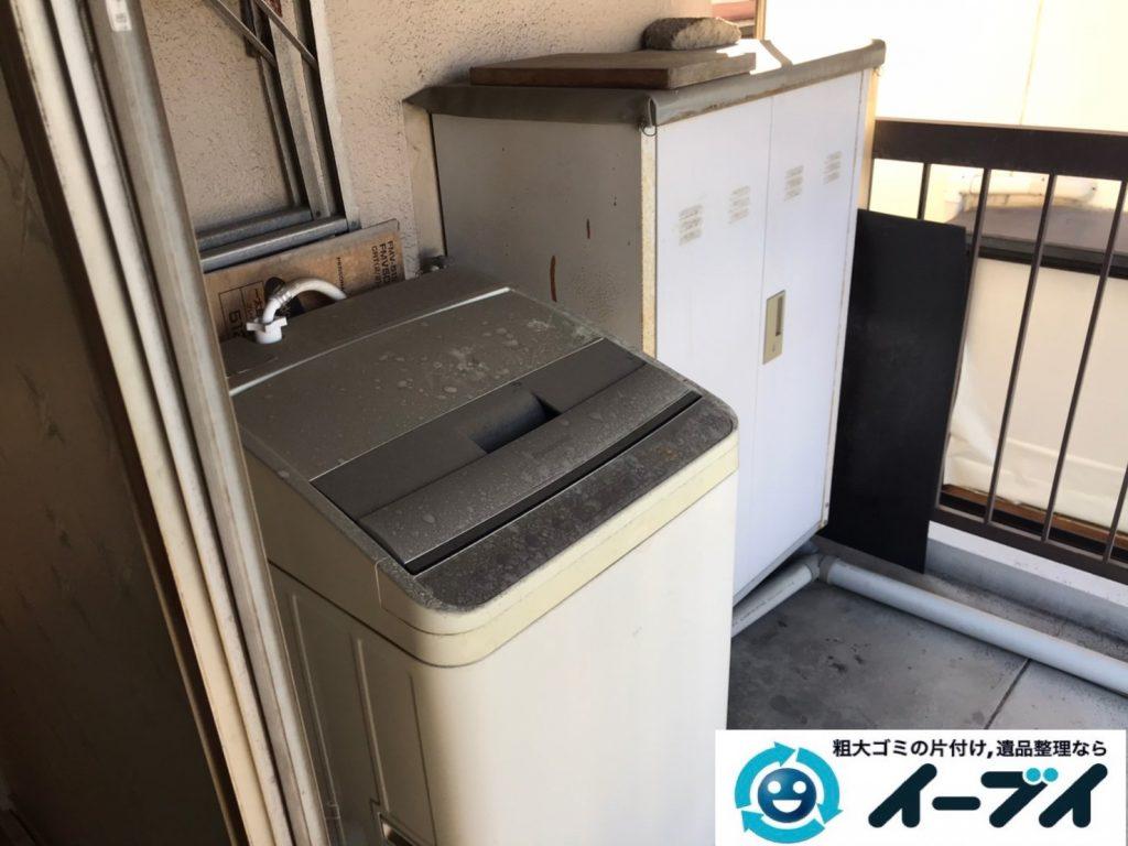 2019年12月24日大阪府藤井寺市でデスクの家具、洗濯機の家電の粗大ゴミ処分をさせていただきました。写真3