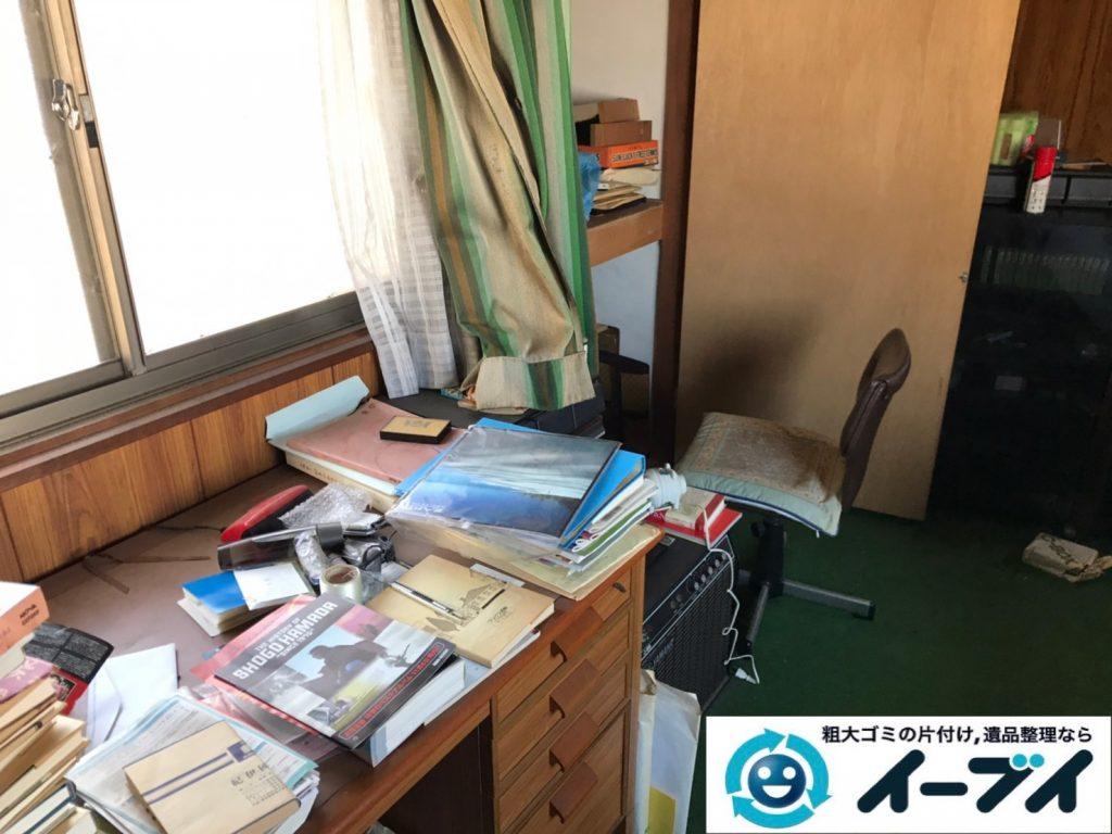 2019年12月24日大阪府藤井寺市でデスクの家具、洗濯機の家電の粗大ゴミ処分をさせていただきました。写真1