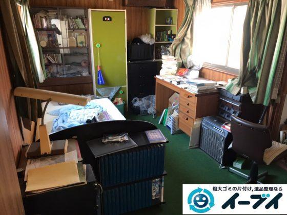 2019年12月19日大阪府茨木市でベッドや本棚の大型家具、冷蔵庫の大型家電の不用品回収です。写真3