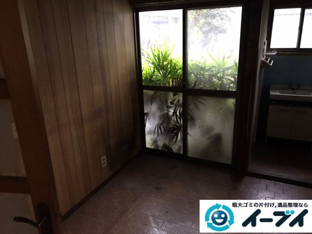 2019年12月20日大阪府羽曳野市で食器棚の大型家具、冷蔵庫の大型家電などの不用品回収。写真4