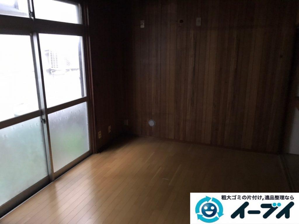 2019年12月20日大阪府羽曳野市で食器棚の大型家具、冷蔵庫の大型家電などの不用品回収。写真2