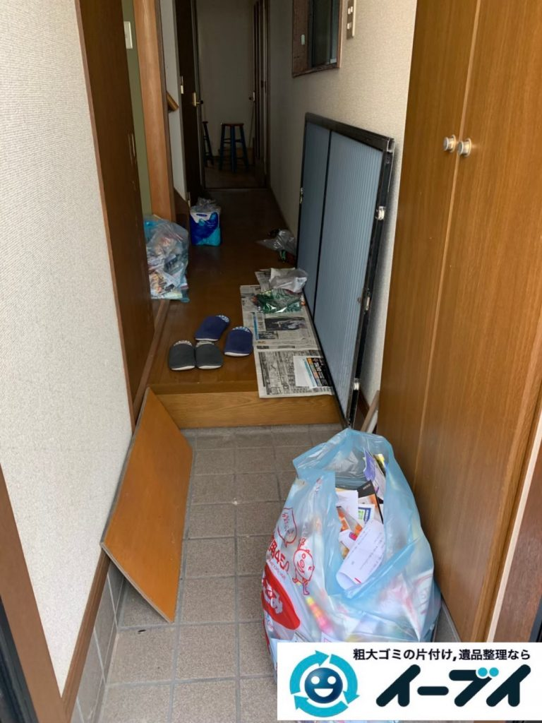 2019年12月11日大阪府泉南市で引越しに伴い、お家の家財道具を一式処分させていただきました。写真4