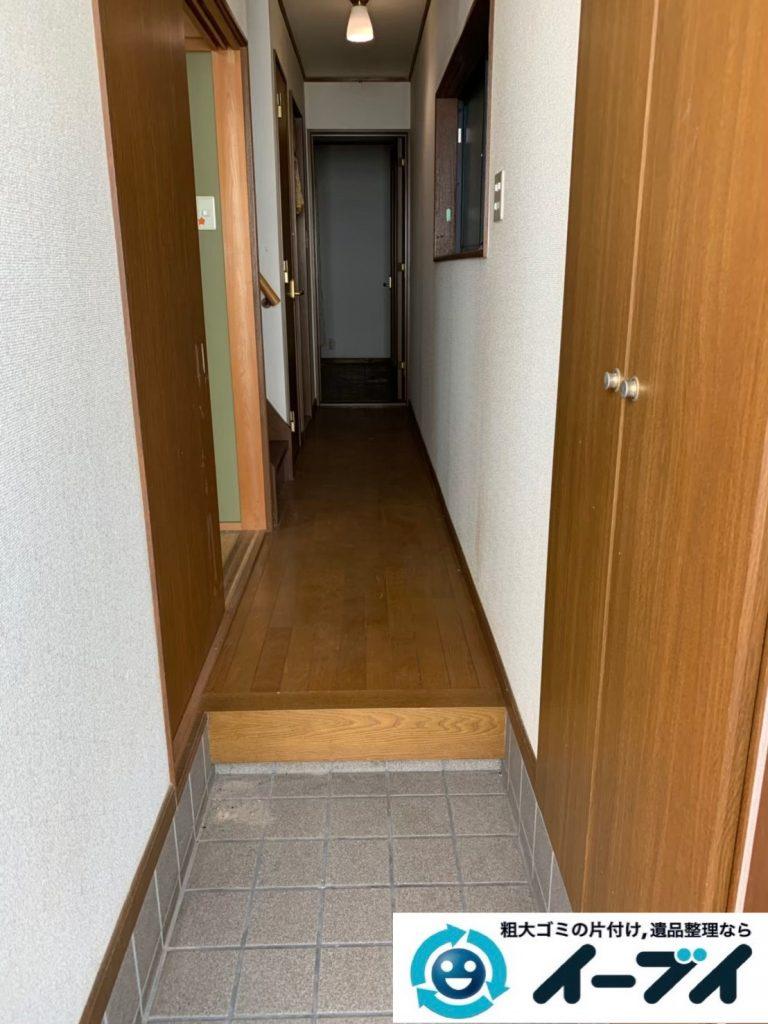 2019年12月11日大阪府泉南市で引越しに伴い、お家の家財道具を一式処分させていただきました。写真3