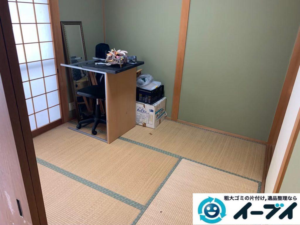 2019年12月11日大阪府泉南市で引越しに伴い、お家の家財道具を一式処分させていただきました。写真1