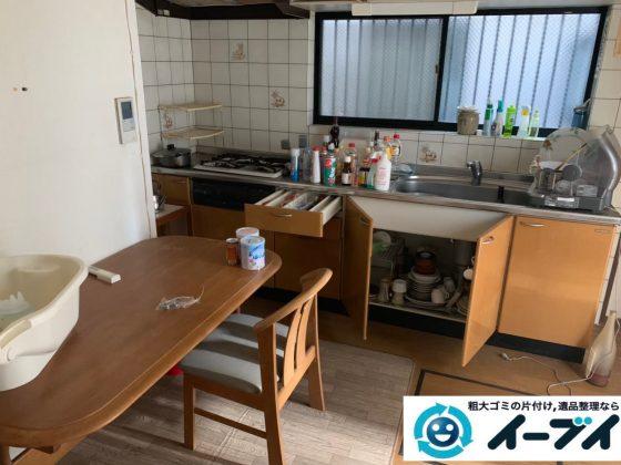 2019年12月12日大阪府大阪市港区でダイニングテーブルや椅子の家具処分、キッチンの片付けをさせていただきました。写真4
