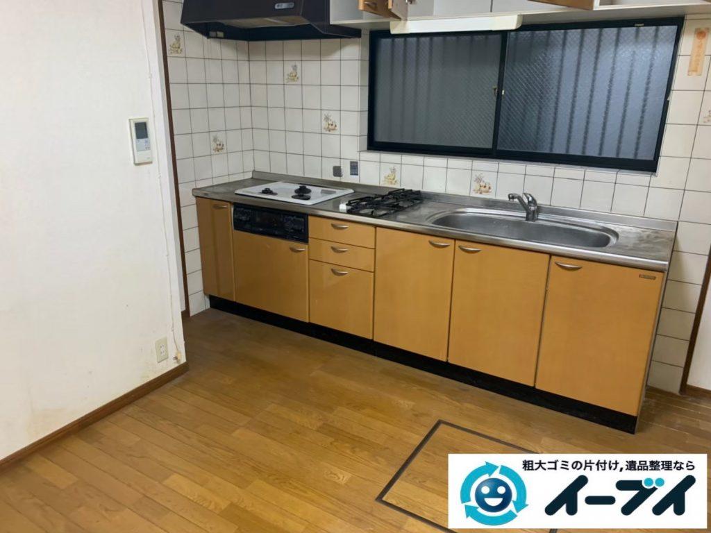 2019年12月12日大阪府大阪市港区でダイニングテーブルや椅子の家具処分、キッチンの片付けをさせていただきました。写真3