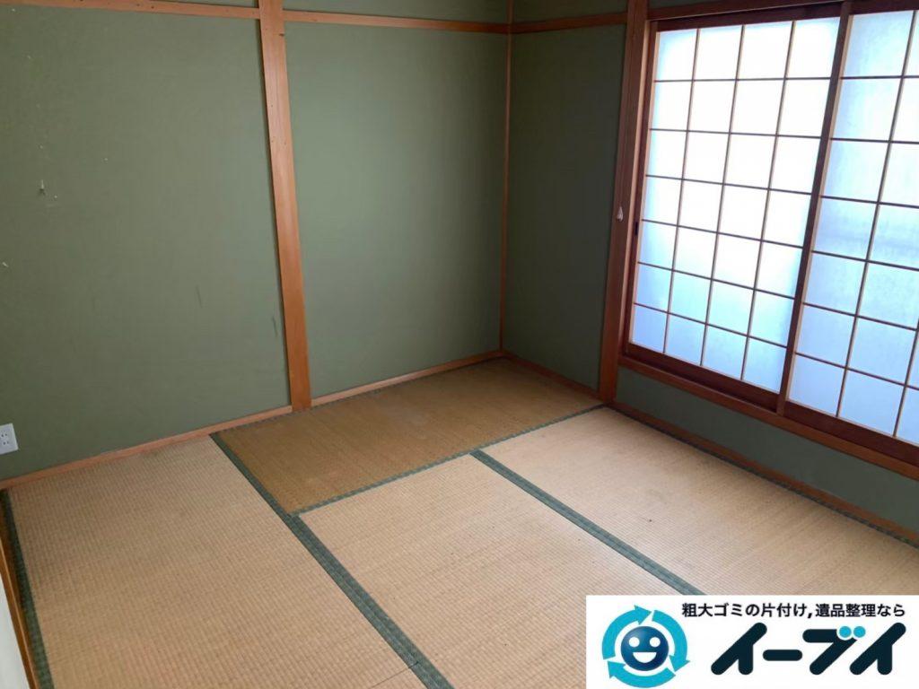 2019年12月12日大阪府大阪市港区でダイニングテーブルや椅子の家具処分、キッチンの片付けをさせていただきました。写真1