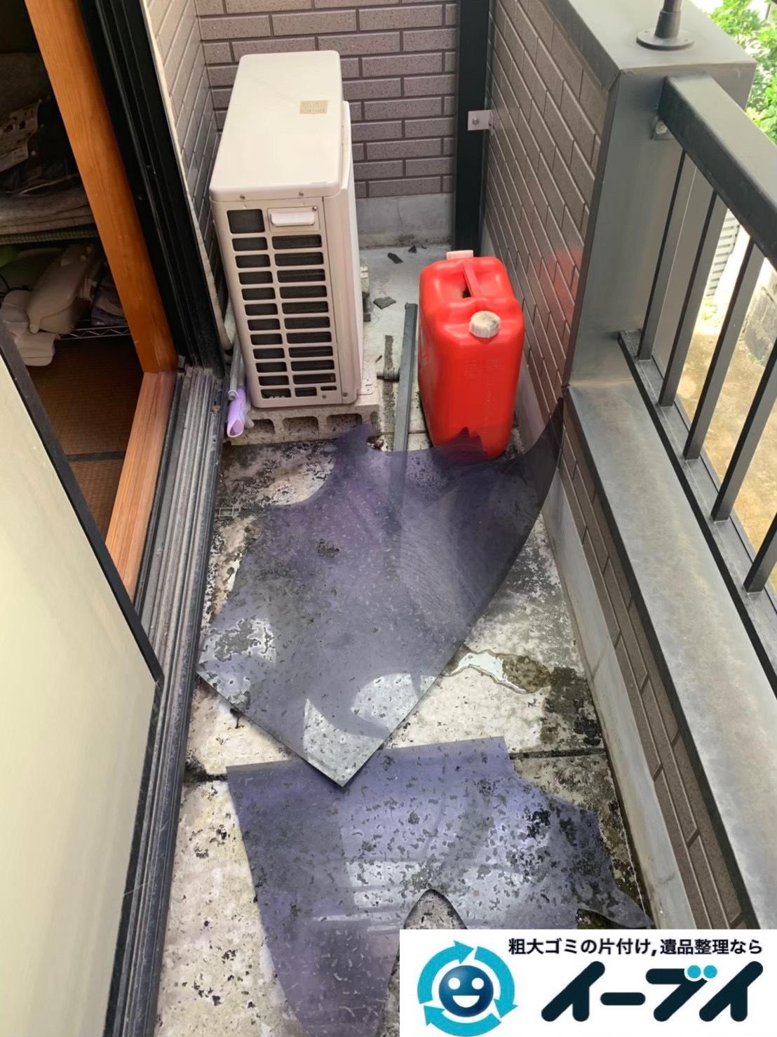 2019年12月13日大阪府泉大津市で押し入れやベランダの片付け作業です。写真2