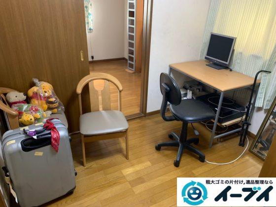 2019年12月17日大阪府熊取町でデスクや椅子の家具処分、物置の不用品回収をしました。写真4