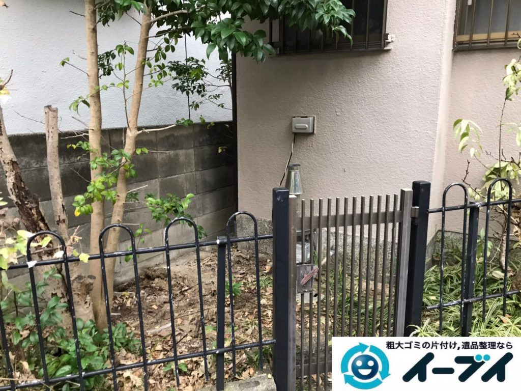 2019年12月27日大阪府豊中市で退去に伴い、ソファ、テーブルなど粗大ゴミの不用品回収。写真4