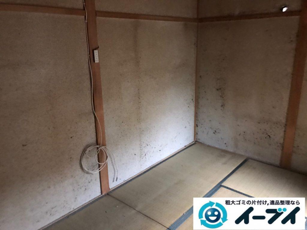 2019年12月30日大阪府箕面市で婚礼家具の大型家具などの不用品回収作業。写真1
